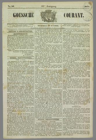 Goessche Courant 1855-10-11