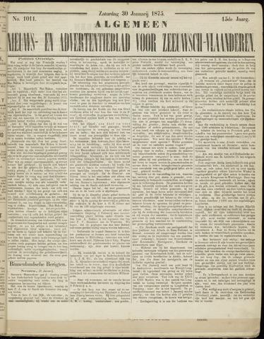 Ter Neuzensche Courant. Algemeen Nieuws- en Advertentieblad voor Zeeuwsch-Vlaanderen / Neuzensche Courant ... (idem) / (Algemeen) nieuws en advertentieblad voor Zeeuwsch-Vlaanderen 1875-01-30