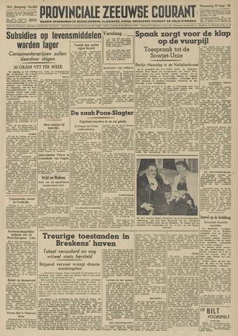 Provinciale Zeeuwse Courant 1948-09-29