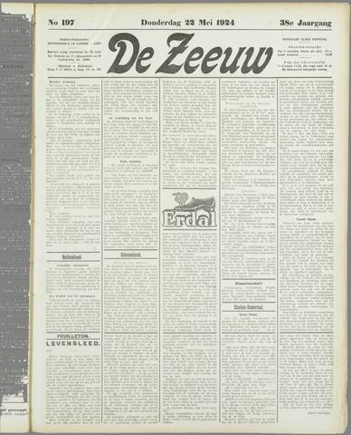 De Zeeuw. Christelijk-historisch nieuwsblad voor Zeeland 1924-05-22