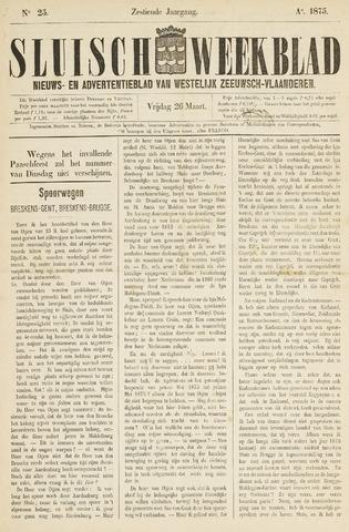 Sluisch Weekblad. Nieuws- en advertentieblad voor Westelijk Zeeuwsch-Vlaanderen 1875-03-26