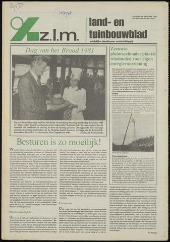 Zeeuwsch landbouwblad ... ZLM land- en tuinbouwblad 1981-10-16