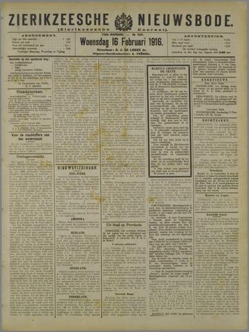 Zierikzeesche Nieuwsbode 1916-02-16