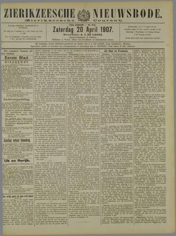 Zierikzeesche Nieuwsbode 1907-04-20