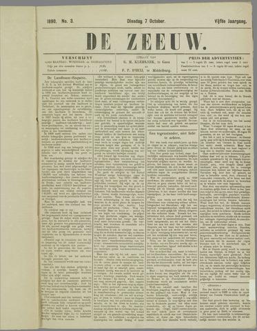 De Zeeuw. Christelijk-historisch nieuwsblad voor Zeeland 1890-10-07