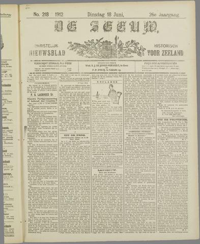 De Zeeuw. Christelijk-historisch nieuwsblad voor Zeeland 1912-06-18