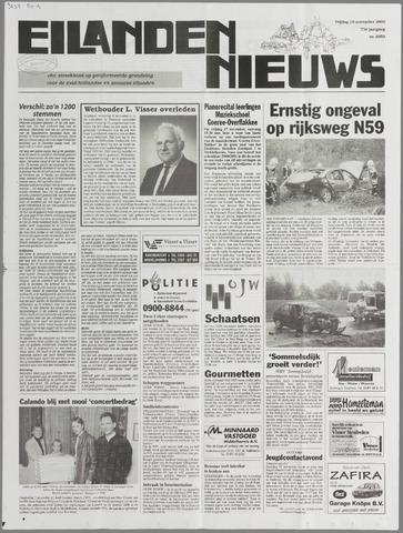 Eilanden-nieuws. Christelijk streekblad op gereformeerde grondslag 2000-11-10