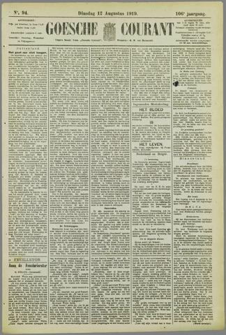 Goessche Courant 1919-08-12