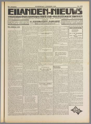 Eilanden-nieuws. Christelijk streekblad op gereformeerde grondslag 1940-12-04