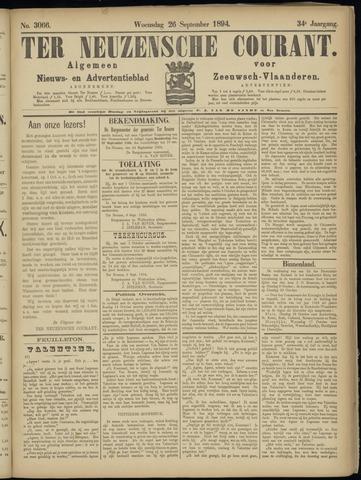 Ter Neuzensche Courant. Algemeen Nieuws- en Advertentieblad voor Zeeuwsch-Vlaanderen / Neuzensche Courant ... (idem) / (Algemeen) nieuws en advertentieblad voor Zeeuwsch-Vlaanderen 1894-09-26