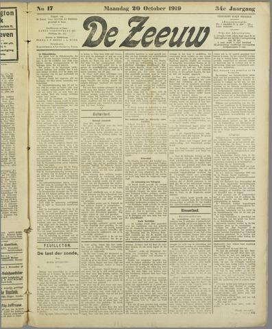 De Zeeuw. Christelijk-historisch nieuwsblad voor Zeeland 1919-10-20