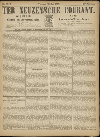 Ter Neuzensche Courant. Algemeen Nieuws- en Advertentieblad voor Zeeuwsch-Vlaanderen / Neuzensche Courant ... (idem) / (Algemeen) nieuws en advertentieblad voor Zeeuwsch-Vlaanderen 1886-07-28