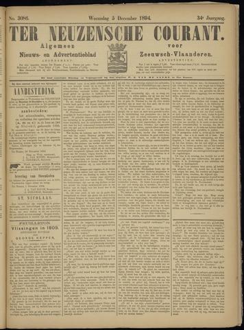 Ter Neuzensche Courant. Algemeen Nieuws- en Advertentieblad voor Zeeuwsch-Vlaanderen / Neuzensche Courant ... (idem) / (Algemeen) nieuws en advertentieblad voor Zeeuwsch-Vlaanderen 1894-12-05