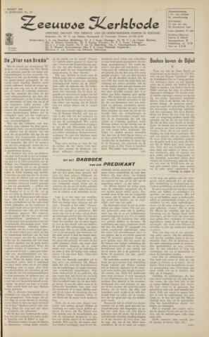 Zeeuwsche kerkbode, weekblad gewijd aan de belangen der gereformeerde kerken/ Zeeuwsch kerkblad 1963-03-01
