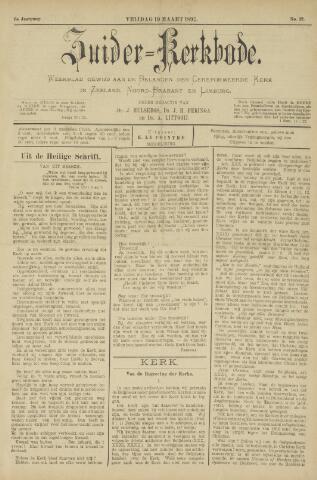 Zuider Kerkbode, Weekblad gewijd aan de belangen der gereformeerde kerken in Zeeland, Noord-Brabant en Limburg. 1897-03-19