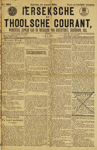 Ierseksche en Thoolsche Courant 1905-01-14