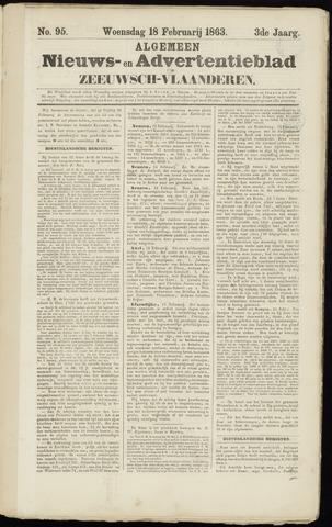 Ter Neuzensche Courant. Algemeen Nieuws- en Advertentieblad voor Zeeuwsch-Vlaanderen / Neuzensche Courant ... (idem) / (Algemeen) nieuws en advertentieblad voor Zeeuwsch-Vlaanderen 1863-02-18