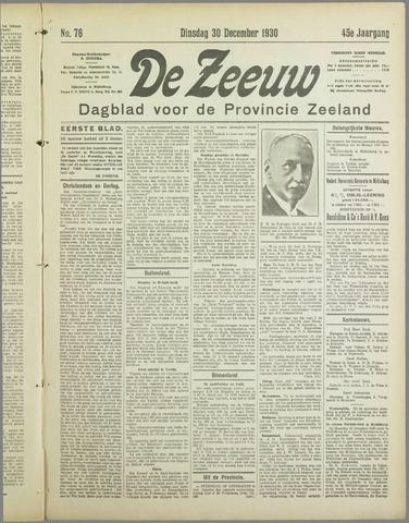 De Zeeuw. Christelijk-historisch nieuwsblad voor Zeeland 1930-12-30