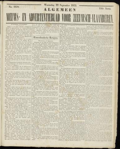 Ter Neuzensche Courant. Algemeen Nieuws- en Advertentieblad voor Zeeuwsch-Vlaanderen / Neuzensche Courant ... (idem) / (Algemeen) nieuws en advertentieblad voor Zeeuwsch-Vlaanderen 1875-09-22