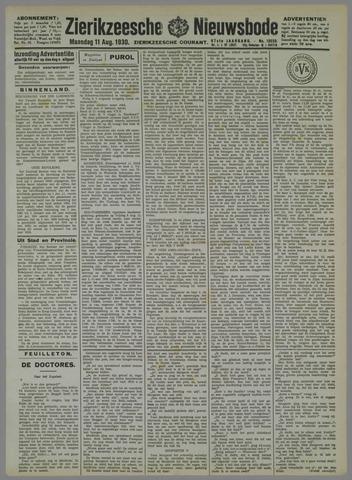 Zierikzeesche Nieuwsbode 1930-08-11