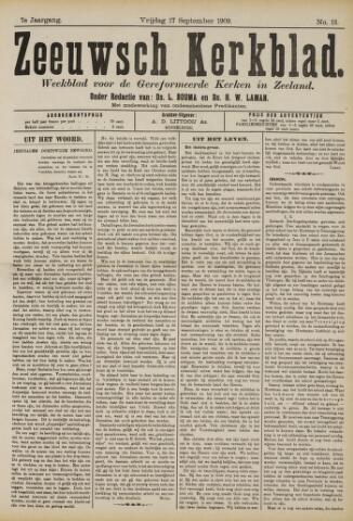 Zeeuwsche kerkbode, weekblad gewijd aan de belangen der gereformeerde kerken/ Zeeuwsch kerkblad 1909-09-17