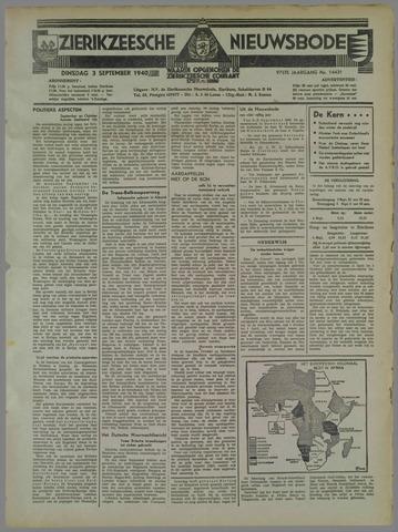 Zierikzeesche Nieuwsbode 1940-09-03