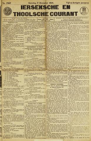 Ierseksche en Thoolsche Courant 1918-12-07