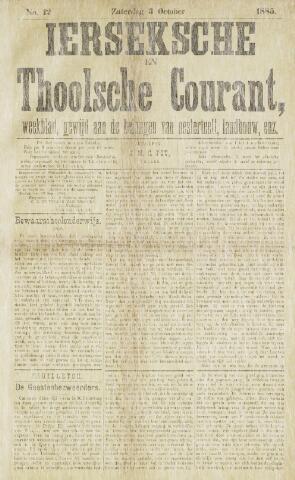 Ierseksche en Thoolsche Courant 1885-10-03