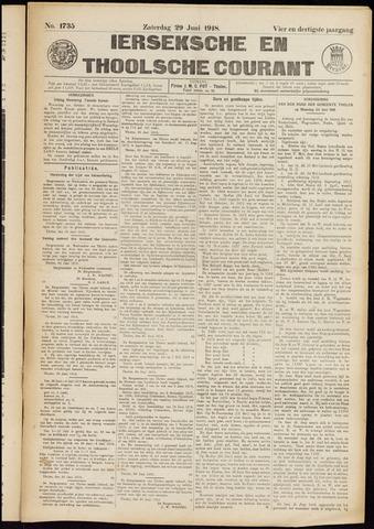 Ierseksche en Thoolsche Courant 1918-06-29