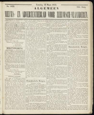 Ter Neuzensche Courant. Algemeen Nieuws- en Advertentieblad voor Zeeuwsch-Vlaanderen / Neuzensche Courant ... (idem) / (Algemeen) nieuws en advertentieblad voor Zeeuwsch-Vlaanderen 1875-03-13