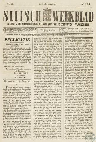 Sluisch Weekblad. Nieuws- en advertentieblad voor Westelijk Zeeuwsch-Vlaanderen 1866-06-01