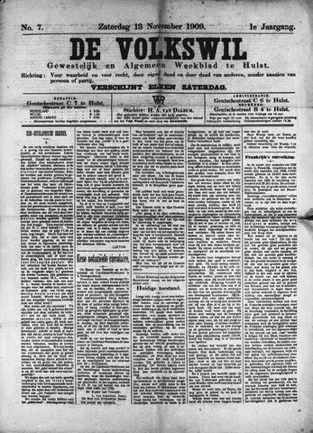 Volkswil/Natuurrecht. Gewestelijk en Algemeen Weekblad te Hulst 1909