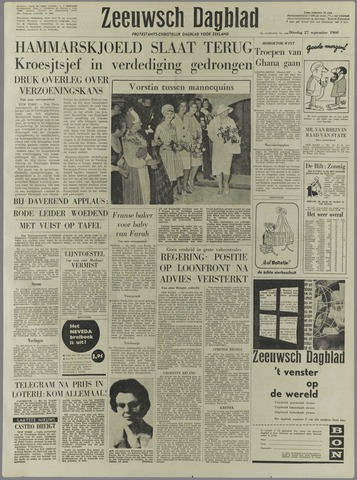 Zeeuwsch Dagblad 1960-09-27