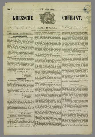 Goessche Courant 1855-01-15