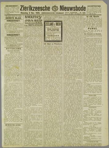 Zierikzeesche Nieuwsbode 1926-11-08