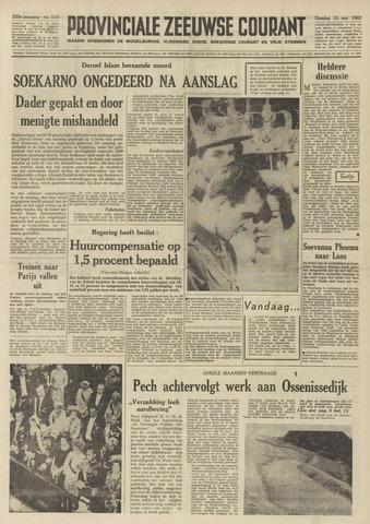 Provinciale Zeeuwse Courant 1962-05-15