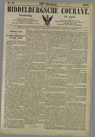Middelburgsche Courant 1887-04-14