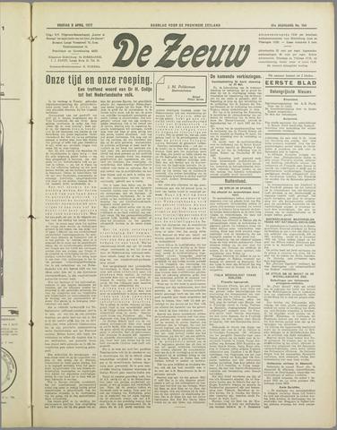 De Zeeuw. Christelijk-historisch nieuwsblad voor Zeeland 1937-04-09