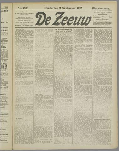 De Zeeuw. Christelijk-historisch nieuwsblad voor Zeeland 1915-09-09