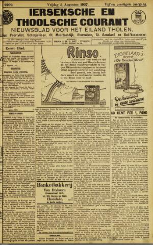 Ierseksche en Thoolsche Courant 1927-08-05