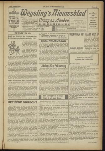Zeeuwsch Nieuwsblad/Wegeling's Nieuwsblad 1925-11-13