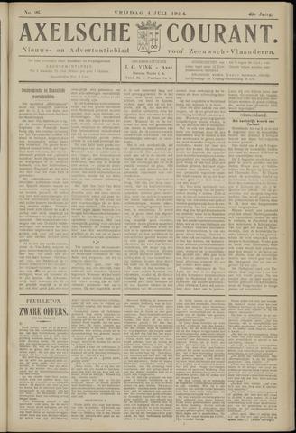 Axelsche Courant 1924-07-04