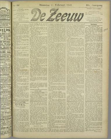 De Zeeuw. Christelijk-historisch nieuwsblad voor Zeeland 1921-02-21