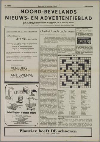 Noord-Bevelands Nieuws- en advertentieblad 1966-11-12