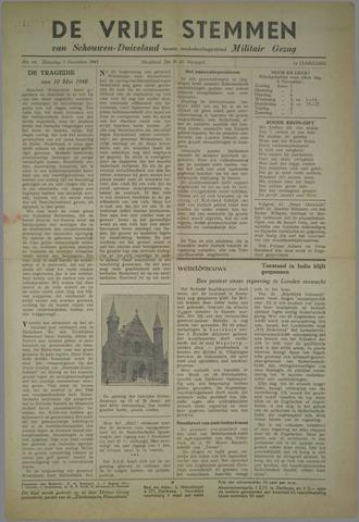 Vrije Stemmen van Schouwen-Duiveland, tevens mededeelingenblad Militair Gezag 1945-11-03