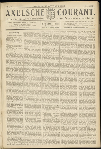 Axelsche Courant 1935-10-15