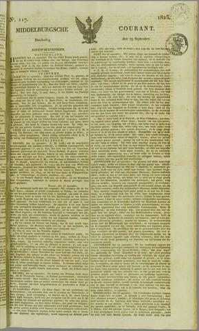 Middelburgsche Courant 1825-09-29