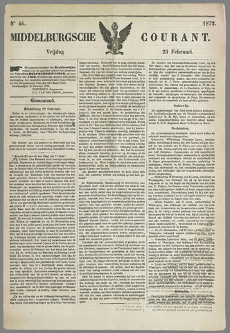 Middelburgsche Courant 1872-02-23