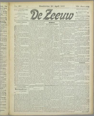 De Zeeuw. Christelijk-historisch nieuwsblad voor Zeeland 1919-04-24
