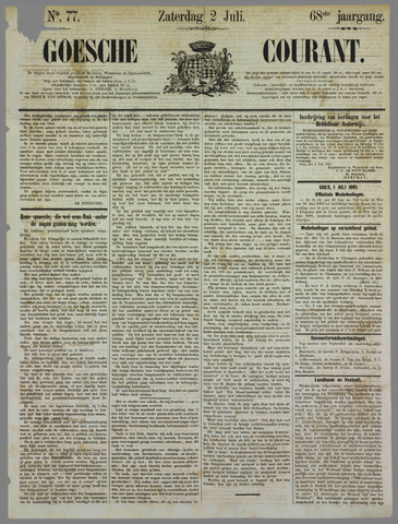Goessche Courant 1881-07-02